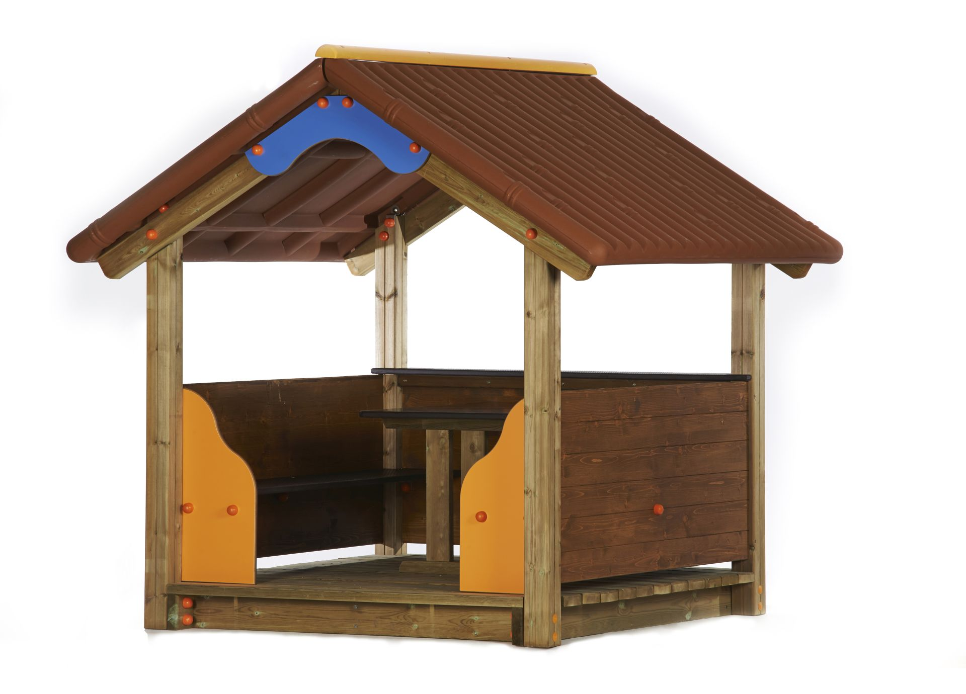 Holzhof TOT HOUSE Classic playhouse with PE roof (in KIT)