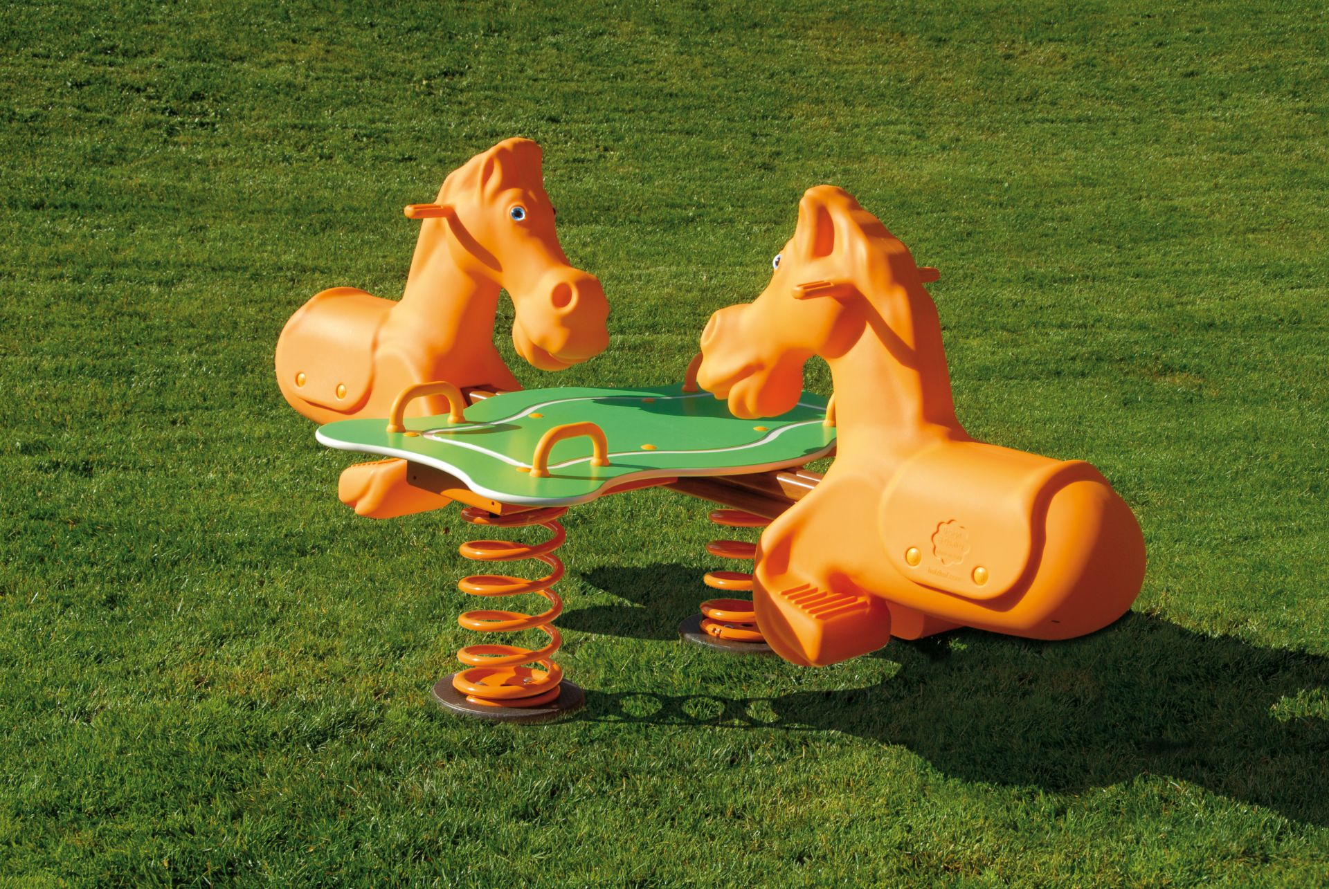 Holzhof Spring riders Rodeo spring rider, 4 seats with basement for underground installation