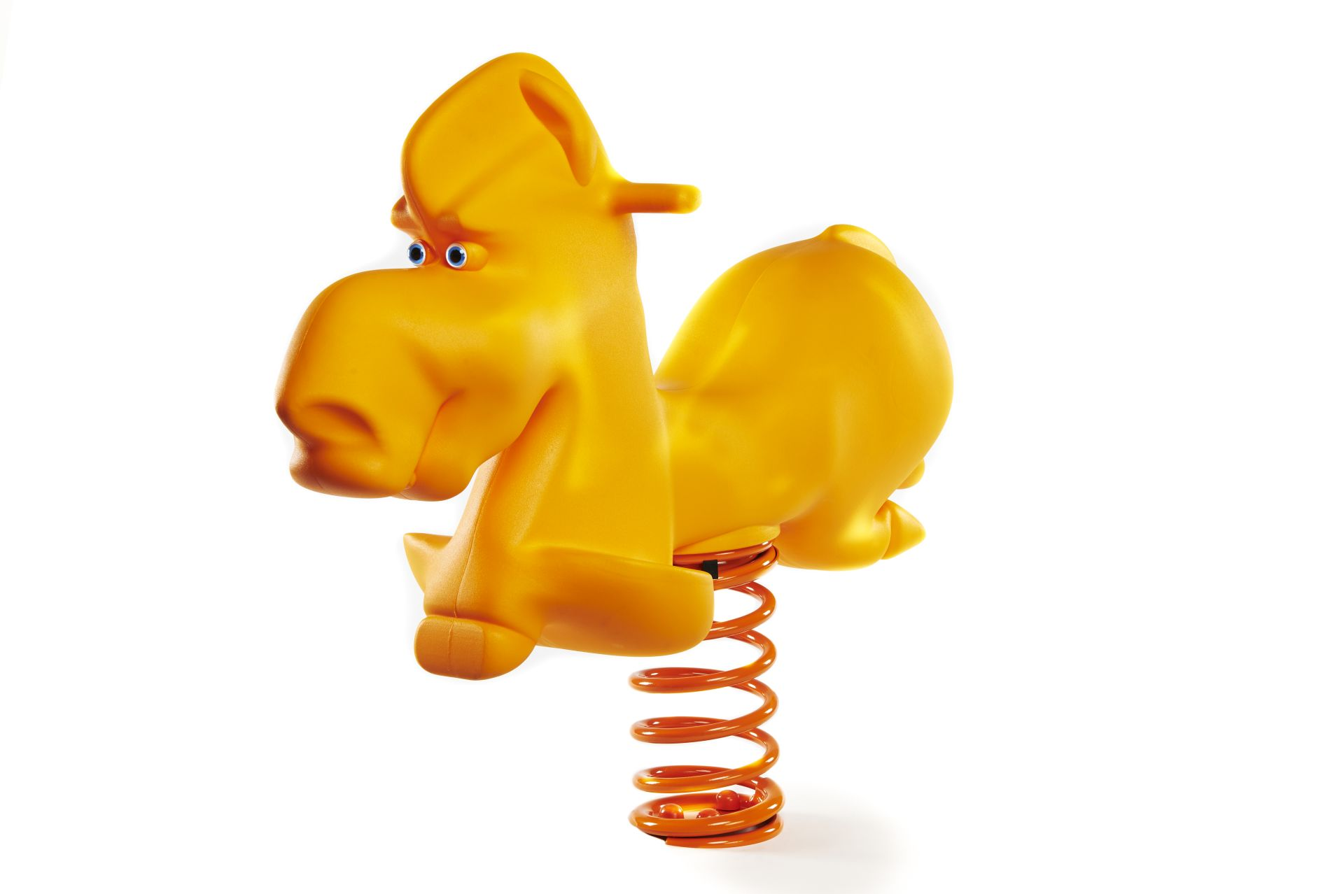 Holzhof Spring riders Lucky Horse spring rider, yellow, polyethylene with basement for underground installation