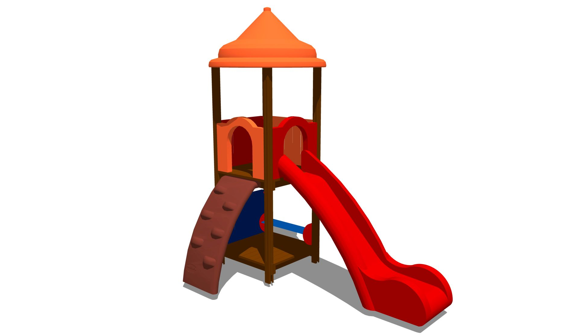 Holzhof MAX & SULTAN Max 1 tower, slide h 144, polyethylene ramp