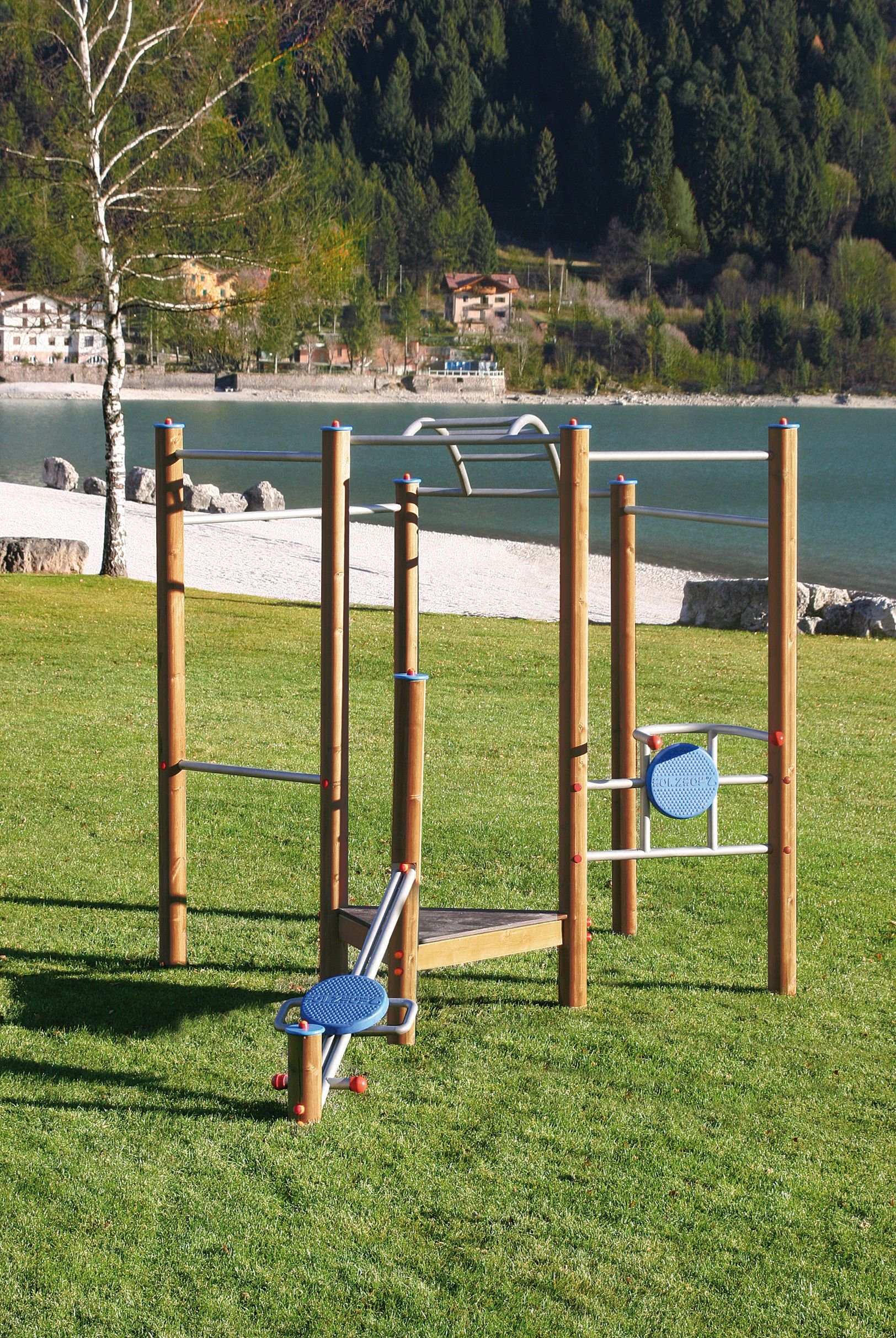 Holzhof SPORTING STRUCTURES Gym Tower multiple excercise set
