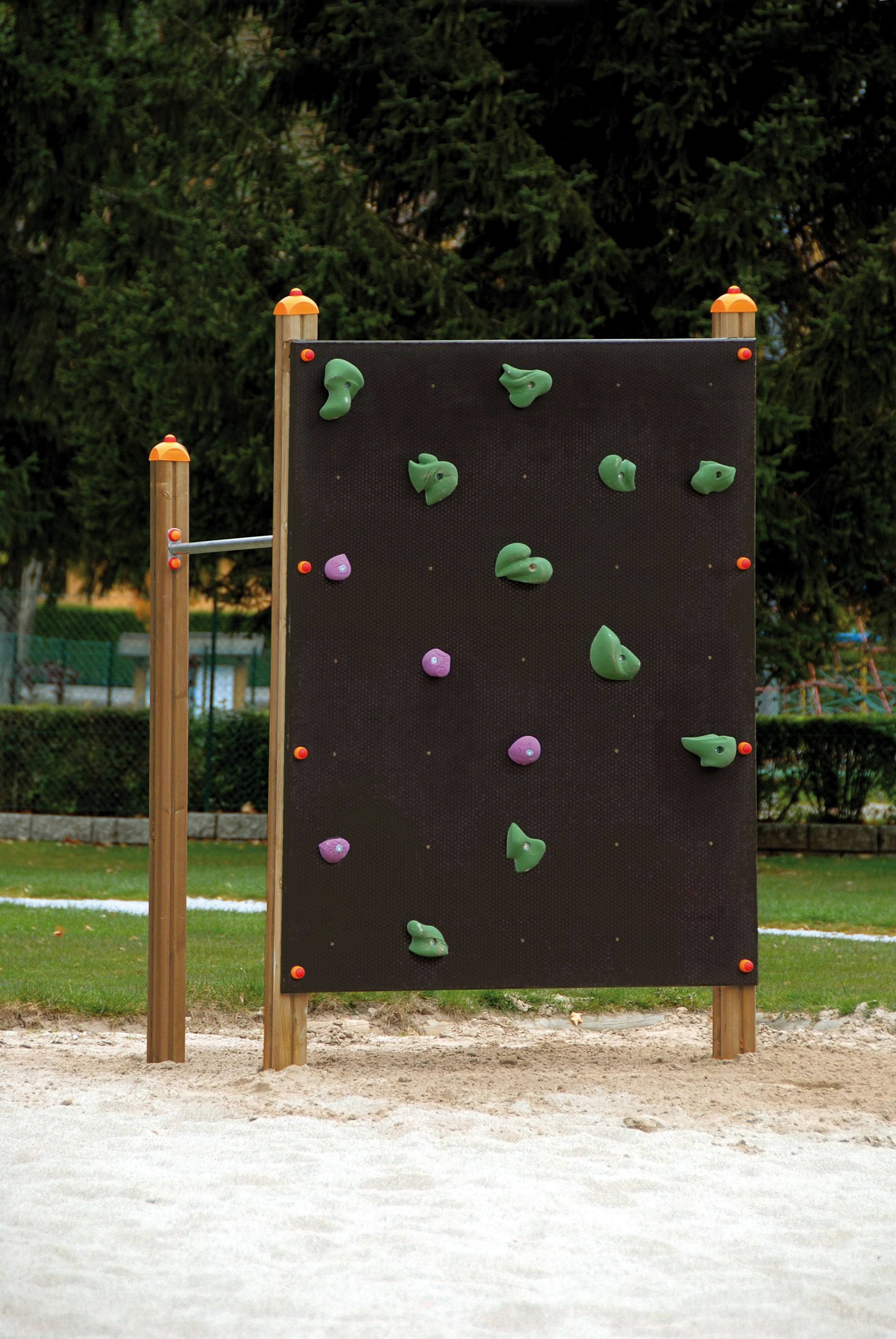 Holzhof CLIMBING STRUCTURES Corner excercise structure with climbing wall + 1 hanging bar