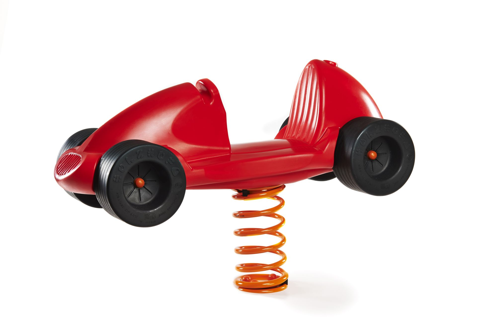 Holzhof Spring riders Race Car spring rider, red, polyethylene with basement for underground installation